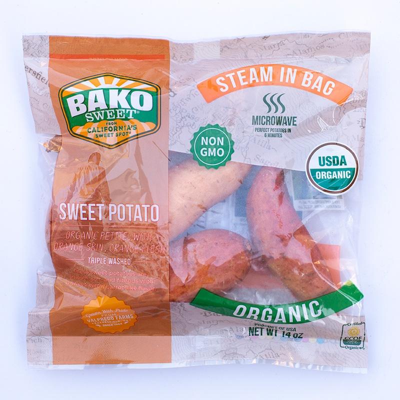 NEW! Organic Orange Sweet Potato Steam Bag