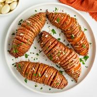 Garlic & Herb Hasselback Sweet Potatoes