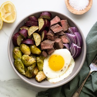 Mike's Purple Sweet Potato Protein & Veggie Bowl