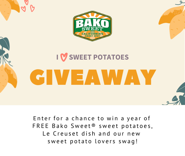 I Heart Sweet Potatoes Giveaway