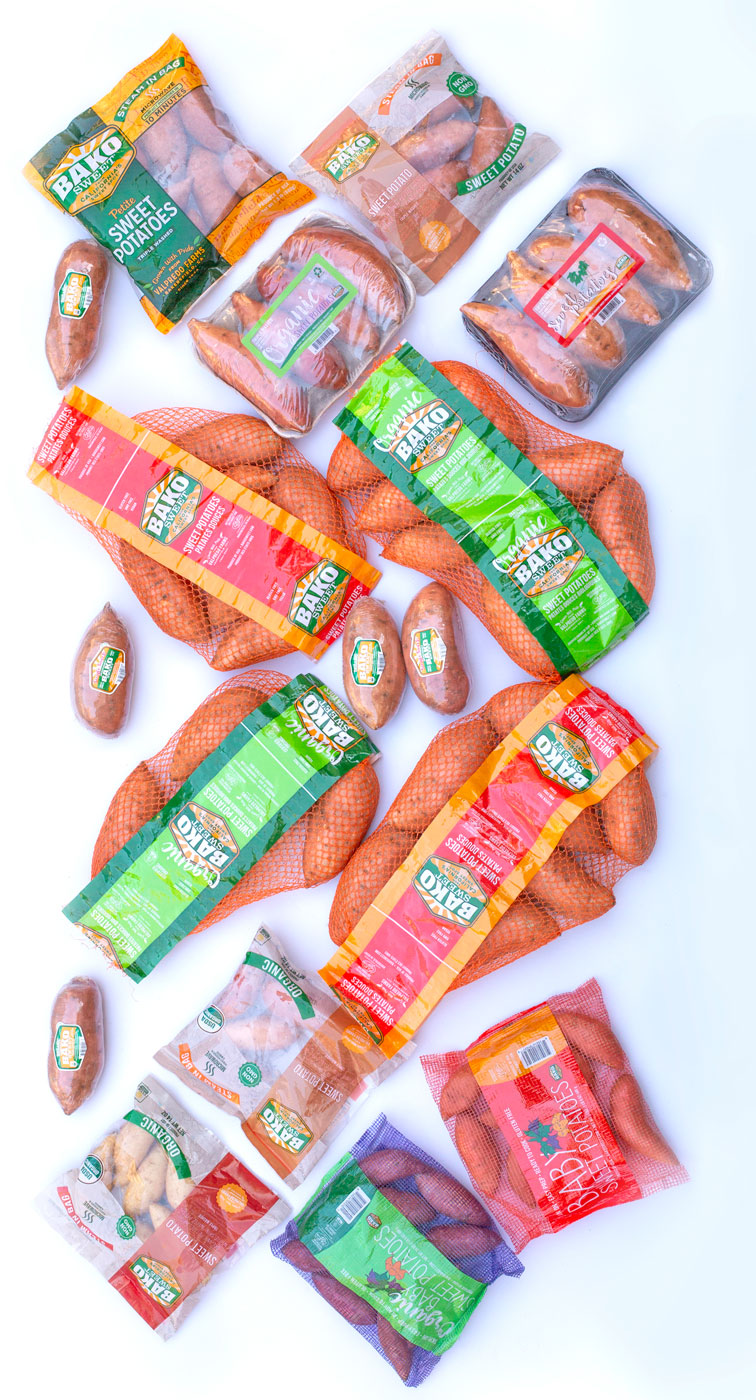 Faimly of Sweet Potato Products Vertical
