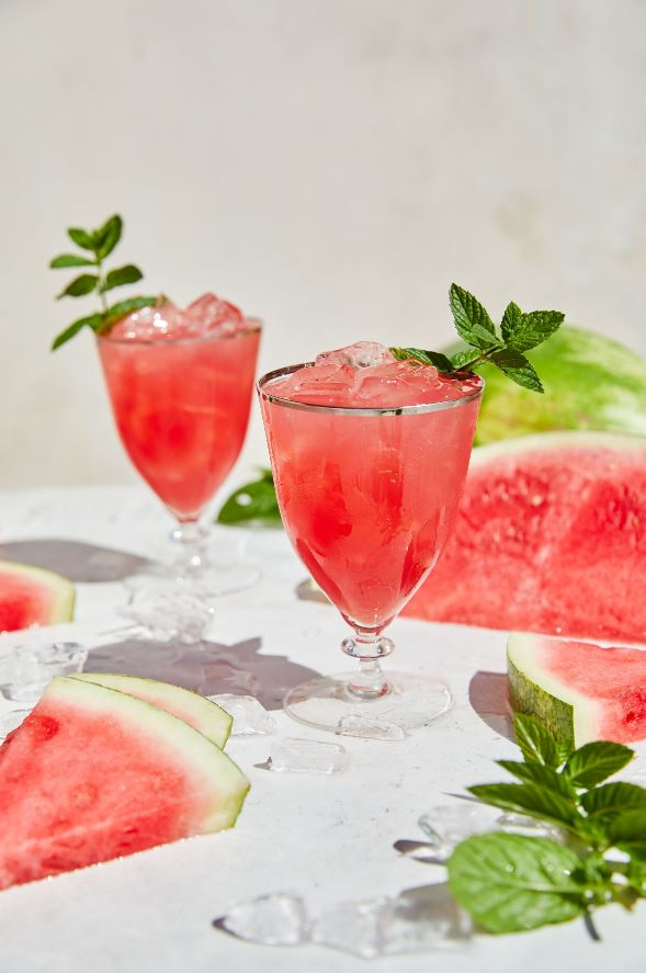 Spicy Watermelon Mezcal Mint Julep