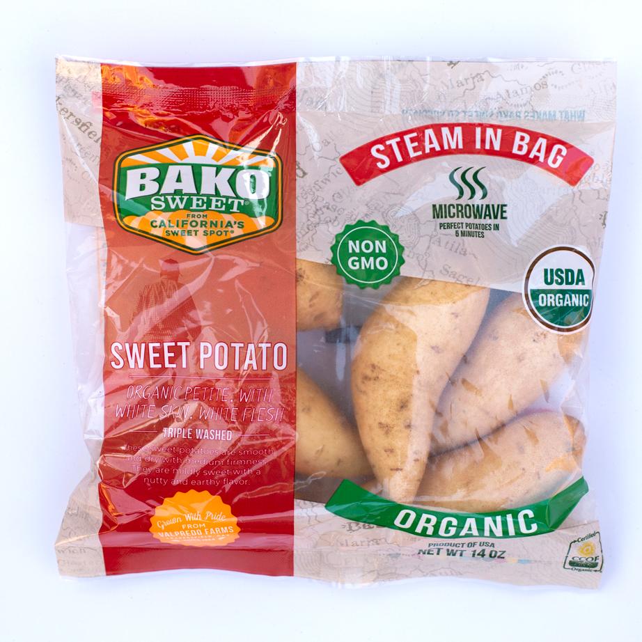 NEW! Organic White Skin White Flesh Steam Bag